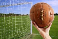 球橄榄球目标现有量净额足球 库存照片