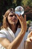 球水晶矮子 免版税库存照片