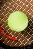 球特写镜头球拍网球 库存照片