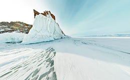 球状全景360 180度在海岛上的海角僧人  免版税库存照片