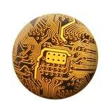 球状的电路 免版税库存照片