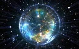 球状精力充沛的量子泡影 皇族释放例证
