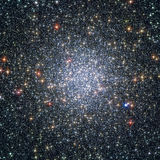 球状群47 Tucanae,在星座Tucana的NGC 104 免版税图库摄影