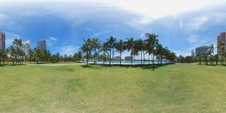 球状360张照片南Pointe公园迈阿密海滩 库存图片