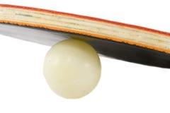 球球拍乒乓球 库存照片
