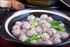 球瓷食物肉猪 免版税图库摄影
