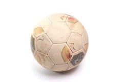 球皮革足球葡萄酒 免版税库存照片