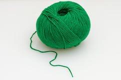 球穿线羊毛 库存图片