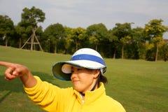 球童瓷高尔夫球 免版税图库摄影
