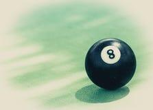 黑球第八 库存照片
