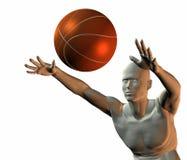 球篮子男孩cyber 免版税库存图片