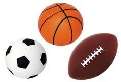 球篮子英尺查出的足球白色 免版税库存图片
