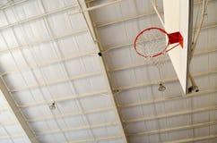 球篮球进入的目标净额 免版税图库摄影