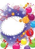 球糖果圣诞节明信片 向量例证