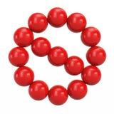 球红色标志禁令  免版税图库摄影