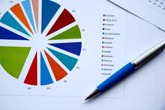 球绘制文件笔图表 免版税图库摄影