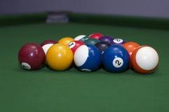 球绿色池天鹅绒 免版税库存照片