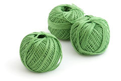 球绿色纱线 免版税库存图片