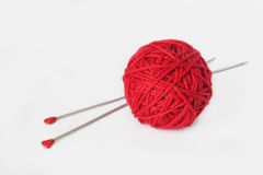 球编织的纱线 库存图片