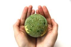 球美好的圣诞节绿色 库存图片