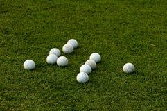 球草绿色曲棍网兜球许多 免版税库存照片