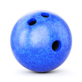 球蓝色保龄球 库存照片