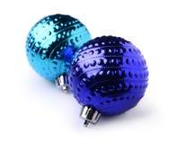 球蓝色圣诞节二 免版税库存图片