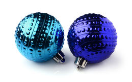 球蓝色圣诞节二 图库摄影