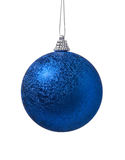 球蓝色圣诞节装饰 免版税库存图片