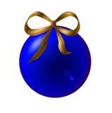 球蓝色圣诞节 皇族释放例证