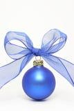球蓝色圣诞节 免版税图库摄影