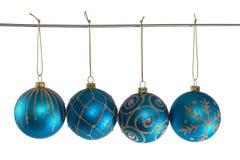 球蓝色圣诞节 库存图片