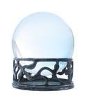 球蓝色水晶立场 图库摄影