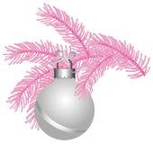 球表面无光泽的桃红色结构树白色 免版税图库摄影
