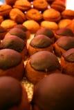 球被塑造的巧克力曲奇饼 免版税库存图片