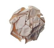 球被弄皱的纸张 库存照片