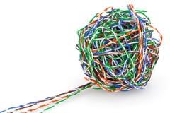 球被扭转的电缆对 免版税库存照片