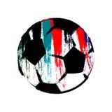 球被绘的足球 免版税库存图片