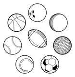 球被设置的体育运动 向量例证