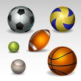 球设计集合体育运动您 免版税库存图片
