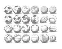 球设计集合体育运动您 库存照片