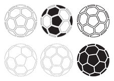球足球向量 免版税库存图片