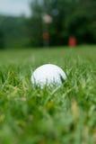 球近高尔夫球绿色 库存图片