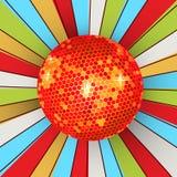 球迪斯科减速火箭发光 免版税图库摄影