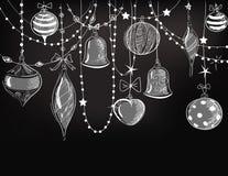 球配件箱分行圣诞节手摇铃装饰品 库存图片