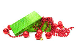 球配件箱圣诞节 免版税库存图片