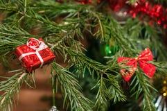 球配件箱分行圣诞节手摇铃装饰品 图库摄影
