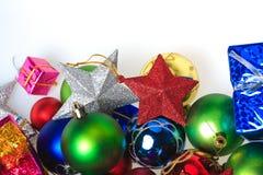 球配件箱分行圣诞节手摇铃装饰品 库存照片