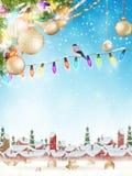 球配件箱分行圣诞节手摇铃装饰品 10 eps 库存照片