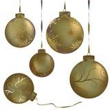 球金属圣诞节的金子 图库摄影